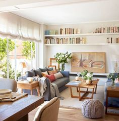 37 Tips to Decorate a Long Wall in Living Room – Living Room Cozy Living Room Kitchen, Home Living Room, Apartment Living, Living Room Decor, Living Spaces, Sweet Home, Appartement Design, Classic Furniture, Cheap Furniture