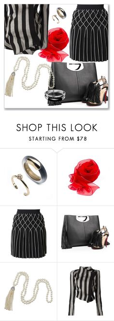"""""""StyleMix"""" by angy-beurskens ❤ liked on Polyvore featuring Alexis Bittar, Jonathan Simkhai, Christian Louboutin, Kenneth Jay Lane, Ann Demeulemeester and Calvin Klein"""