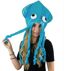 Funny Party Hats Squid Hat - Funny Fun and Crazy Hats in Many Styles Brain Coral, Monster Hat, Amazon Clothes, Funny Hats, Costume Works, Crazy Hats, Halloween Costume Contest, Christmas Costumes, Costume Accessories