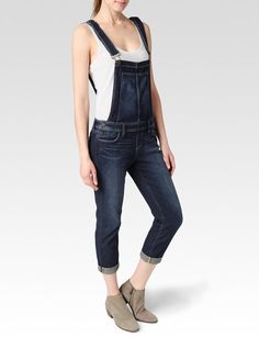 Paige Denim Womens Sierra Overall | Gramercy | Size 28