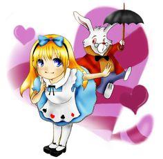 *ALICE & THE WHITE RABBIT ~ Alice in Wonderland