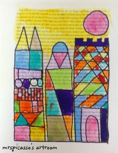 Paul Klee inspired art {from Mrs. Picasso's Art Room}