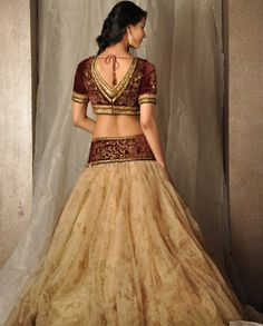 back of Tarun Tahiliani lengha
