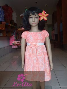 Cute island printed frock for little girls from Le-Ata. Check out their facebook page!