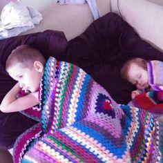 2 boys, 2 blankets - Crochet creation by Amber Doyley