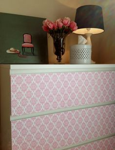Scrapbook Paper Covered Dresser – A Less Than 1 Hour, Less Than $15 Update! - IKEA Hackers