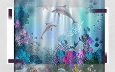 LB Kids Dolphin Underwater Fish Coral Reef Scenery In Blue Ocean Shower Curtain Shower Curtains Boutique Ocean Bathroom, Bathroom Mat Sets, Master Bathroom, Bathroom Ideas, Navy Bathroom, Bathroom Remodeling, Bathroom Inspiration, Ocean Shower Curtain, Door Coverings