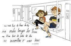 De passagem - Cícero (Na onda leve da brisa do dia /  na onda longa do trem /  na brisa leve da vida do dia /  eu encontrei o meu bem)