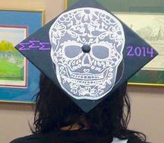 Tri Sigma Sugar Skull Cap!