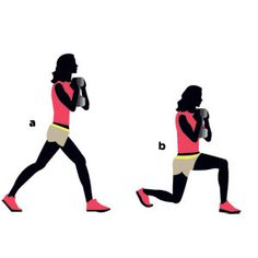 Fry fat in just 15 minutes with this routine! Pictured: Goblet split-squat. The 5 other moves to do: http://www.womenshealthmag.com/fitness/how-to-burn-fat?cm_mmc=Pinterest-_-WomensHealth-_-Content-Fitness-_-FryFatin15