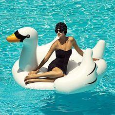 Isnu0027t She Fancy On Her Pool Swan? Remember Your Pool Swan?