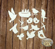 """Laser Cut Chipboard """"Birds [1]"""" by SiberianDIYcraftsArt on Etsy"""