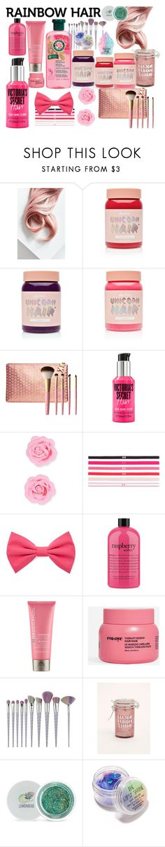 """""""Rainbow Hair"""" by princess-malik-styles ❤ liked on Polyvore featuring beauty, Lime Crime, Too Faced Cosmetics, Victoria's Secret, Forever 21, Under Armour, philosophy, Moroccanoil, Eva NYC and Torrid"""