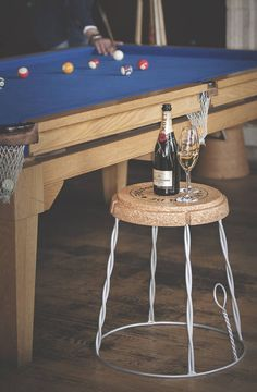I've just found Giant Champagne Cork Wire Cage Side Table. Best Seller!! now with FREE P&P. £160.00