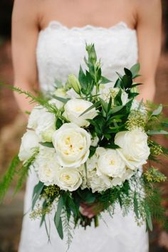 A Rustic Green and White Wedding - Real Weddings - Loverly