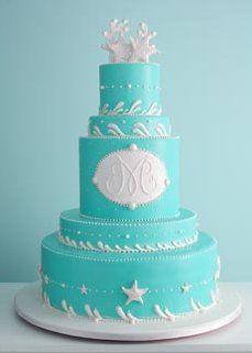 Wedding, Cake, Blue, Beach, The cake girls