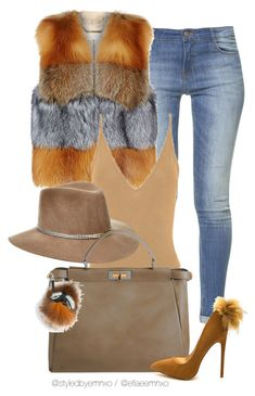 """""""Furry friend"""" by efiaeemnxo ❤ liked on Polyvore featuring Zara, MICHAEL Michael Kors, Eugenia Kim and Fendi"""