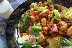Bachelorette chicken and blt salad