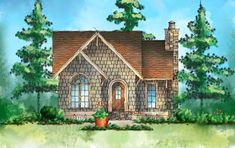 House plans small cottage master suite for 2019 Cottage Floor Plans, Small House Plans, House Floor Plans, One Bedroom House Plans, Small Cottage House Plans, Small Cottages, Cabins And Cottages, Small Houses, Cute Cottage