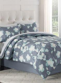 Posey Comforter Set in Blue - BedBathandBeyond.com