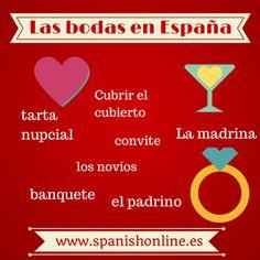Cómo son las bodas en España: vocabulario y expresiones coloquiales #Spain #LearnSpanish #Wedding
