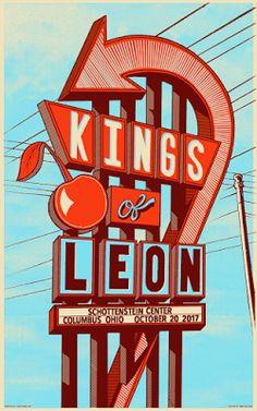 Brian-Methe-Kings-of-Leon-Columbus-Poster-2017