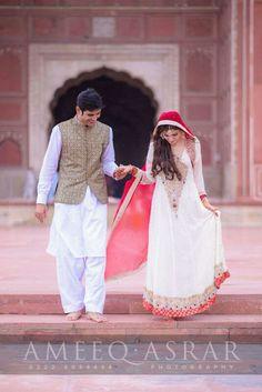 Pakistani Bride And Groom ♡ ❤ ♡ Pakistani Wedding Dress, Pakistani Style. Follow me here MrZeshan Sadiq  Photo by Ameeq Asrar Photography   https://m.facebook.com/ameeqasrar.photography/