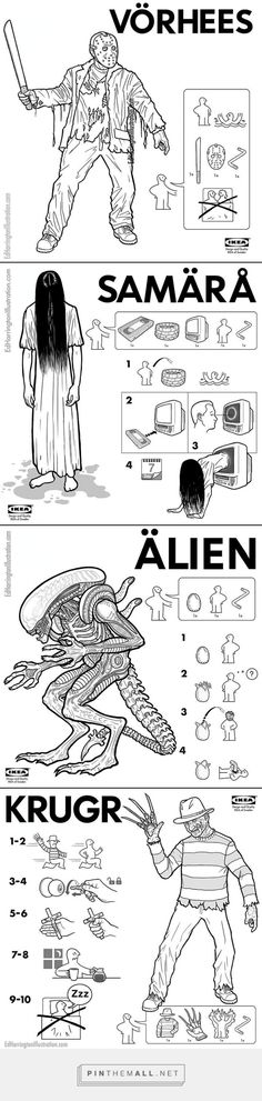 IKEA Instructions for Horror Fans | Killer Kitsch