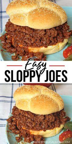Homemade Sloppy Joe Recipe, Homemade Sloppy Joes, Sloppy Joes Recipe, Easy Homemade Recipes, Sloppy Joe Recipe With Brown Sugar, Easy Dinner Recipes, Delicious Recipes, Dinner Ideas, Old Fashioned Sloppy Joe Recipe