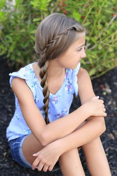 Waterfall Twist into Rope Braid and more Hairstyles from CuteGirlsHairstyles.com