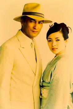 Ken Watanabe and Ziyi Zhang - Memoires of a Geisha.
