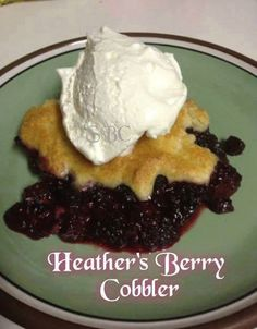 Love recipes?  Follow us at Healthy Living, Healthy Looking With Dan and Pat at https://www.facebook.com/groups/751571101536849/   Heather's Berry Cobbler  Follow Me, your gonna love being here https://www.facebook.com/ladytexas.key.1   So Good !!   1 tbsp. melted butter 2 pints of blueberries 2 pints of blackberries 1/4 cup unsalted butter, room temp 1 1/4 cups flour 1/2 c. milk 2 tsp. baking powder 1/2 tsp. salt 1 tsp. vanilla extract 1/2 c. warm water 1/4c. sugar  Heat oven to 350. coat…