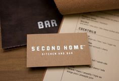 Business card for Second Home restaurant by Bryant Ross   www.bryantross.com