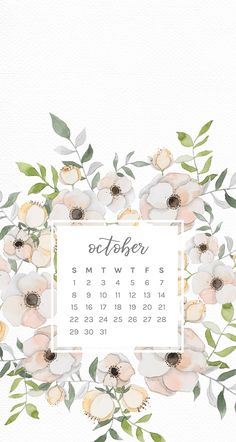 October floral phone wallpapers