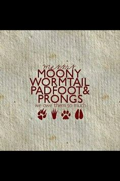 Mooney, Wormtail, Padfoot and Prongs :)