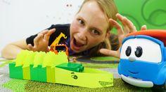 Поделки: Грузовичок Лёва и Маша делают крокодильчика! Конструктор Лего.