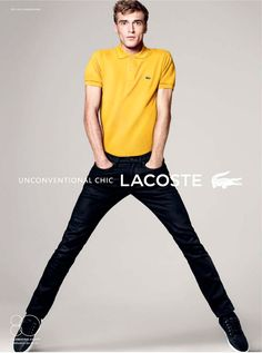 Parisian model Clement Chabernaud is the new face of Lacoste's Spring/Summer 2013 campaign.