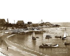 California Views Mr Pat Hathaway Archives - Japanese Tea Garden Glass Bottom Boats at Lovers Point Pacific Grove California circa 1907