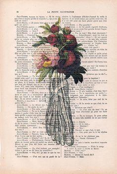 Jardín Botánico peonía pies anatomía impresión en por NotMuchToSay
