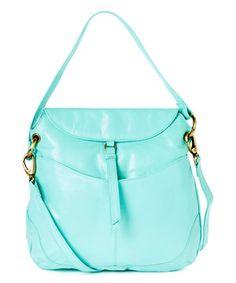 Loving this Mint Kane Leather Shoulder Bag on #zulily! #zulilyfinds