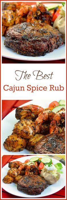 The Best Cajun Spice Rub - this versatile spice rub goes from grilled rib eye steaks to fresh seafood, like scallops & shrimp, with delicious, versatile ease. Make it one of your summer grilling secrets. (recipes with deer meat spices) Dry Rub Recipes, Steak Recipes, Grilling Recipes, Cooking Recipes, Smoker Recipes, Rib Recipes, Donut Recipes, Family Recipes, Barbecue