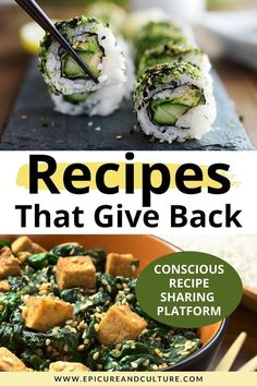 Love recipes that give back? This conscious recipe sharing platform shares restaurant recipes from female chefs and donates to charity! // #Charity #GiveBack #Giving #Recipes #RecipeSharing Vegan Recipes Easy, Asian Recipes, Travel Guides, Travel Tips, Vegan Looks, Recipe Sharing, Roasted Cherry Tomatoes, Responsible Travel, Plant Based Eating