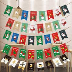 New Xmas Party Christmas Decor Elk Fashion Hanging Banner Sock Paper Stage Set Santa Claus Hanging Flags HOT Flags Christmas Tree Decorations, Holiday Decor, Hanging Banner, Funny Socks, Stage Set, Xmas Party, Festival Party, Elk, Flags