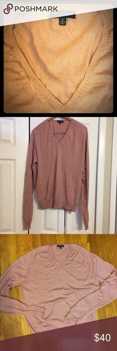 BURBERRY! London Sweater Men's mauve Burberry sweater made of cotton and silk. Great for over a checkered button down shirt. Designer label for a fraction of the price! Burberry Sweaters V-Neck