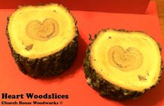 Natural Heart Woodslices!