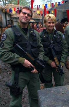 Daniel and Sam from Stargate SG1