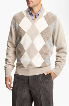 MacAlan Argyle Front Cashmere Sweater available at #Nordstrom