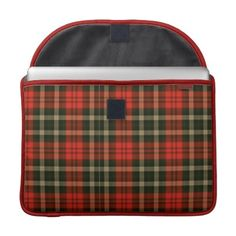 """#folio #planner# tartan #scottish #red #zazzle #elenaindolfi  Red Tartan Sleeve For Macbooks  •Water resistant, extra durable construction  •Ultra-plush, laptop-grade padded liner.  •Secure hoop and loop flap closure.  •Handmade with a sustainability focus in San Francisco, CA.  •Sized perfectly for MacBook/MacBook Pro 13"""" (14.25""""W x 10.9""""H x .75"""" D) & MacBook/Macbook Pro 15"""" (16""""W x 11.75""""H x .75"""")."""