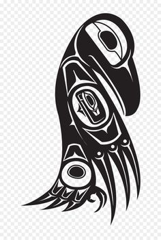 Want to discover art related to tlingit? Check out inspiring examples of tlingit artwork on DeviantArt, and get inspired by our community of talented artists. Haida Kunst, Arte Haida, Haida Art, Tatouage Haida, Haida Tattoo, Rabe Tattoo, Indian Symbols, Native American Symbols, Native American Design