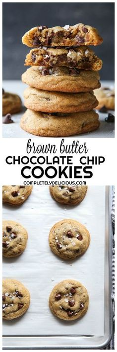 Not your average chocolate chip cookies, these show-stoppers are flavored with brown butter and a sprinkling of sea salt.